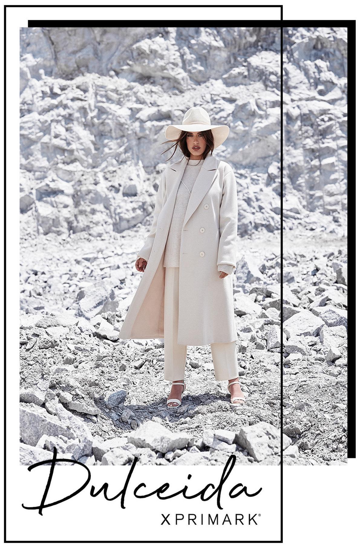 dulceida x primark abrigo blanco dulceida primark
