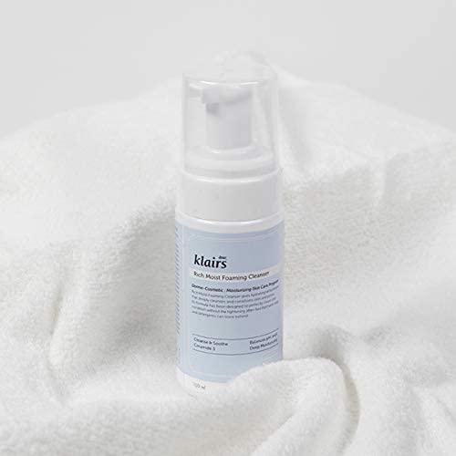 espuma hidratante y limpiadora